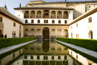 Granada - Alhambra Patio de los Arrayanes (Court of the Myrtles)